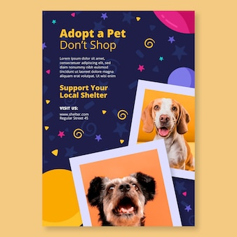 Przyjmij szablon ulotki dla zwierząt domowych