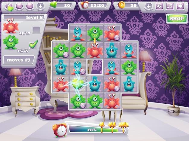 Przykład okna pola gry