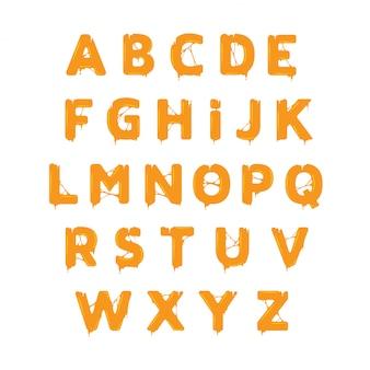 Przyklejony szablon alfabetu