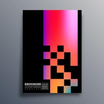 Przykryć kolorowy wzór gradientu