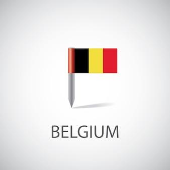 Przypinka flaga belgii na białym tle
