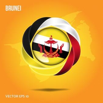 Przypinka flaga brunei