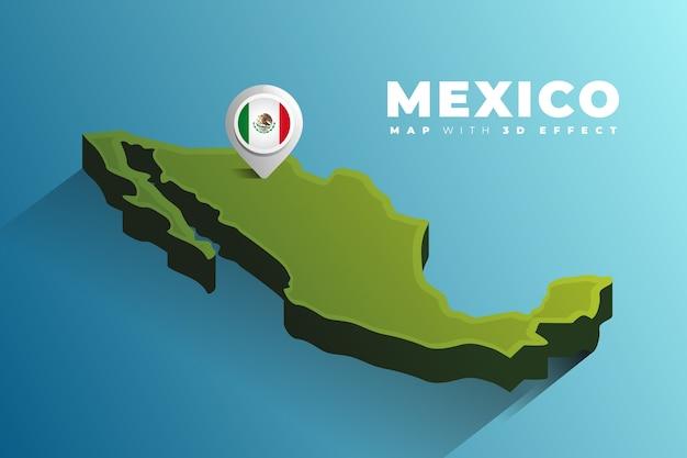 Przypinka lokalizacji na mapie meksyku