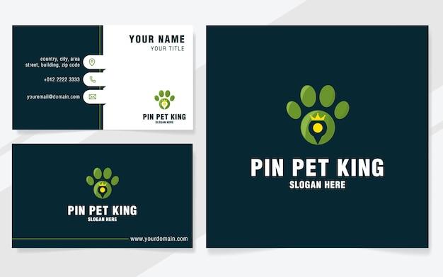 Przypnij szablon logo króla zwierząt w nowoczesnym stylu