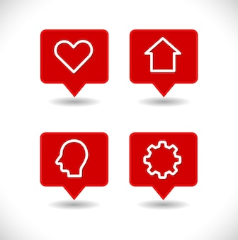 Przypnij wskaźnik mapy z przekładnią serca i ludzką głową