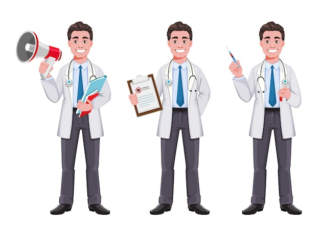 Przystojny mężczyzna lekarza