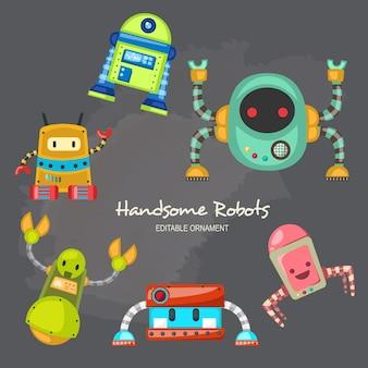 Przystojny robotów allen