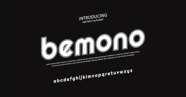 Przyszła minimalna czcionka alfabetu typografia miejski styl