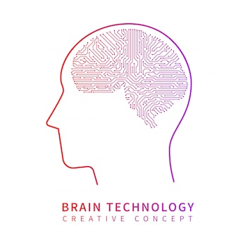 Przyszła technologia sztucznej inteligencji. koncepcja wektor kreatywny pomysł mechaniczny mózg