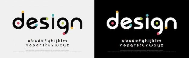 Przyszłe czcionki kreatywnych czcionek nowoczesny alfabet