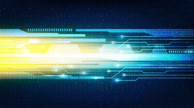 Przyszłość prędkości światła na obwodzie microchip technology, hi-tech digital