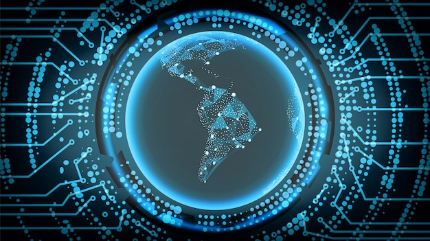 Przyszłość technologii cyber concept
