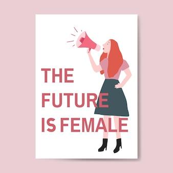Przyszłość to wektor żeński
