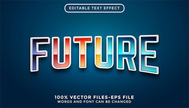 Przyszły tekst. edytowalny wektor premium z efektem tekstowym