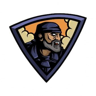 Przyszły żołnierz z logo e sport