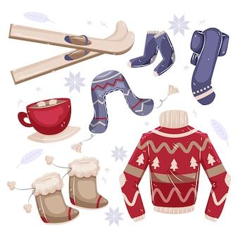 Przytulne zimowe ubrania i niezbędne artykuły