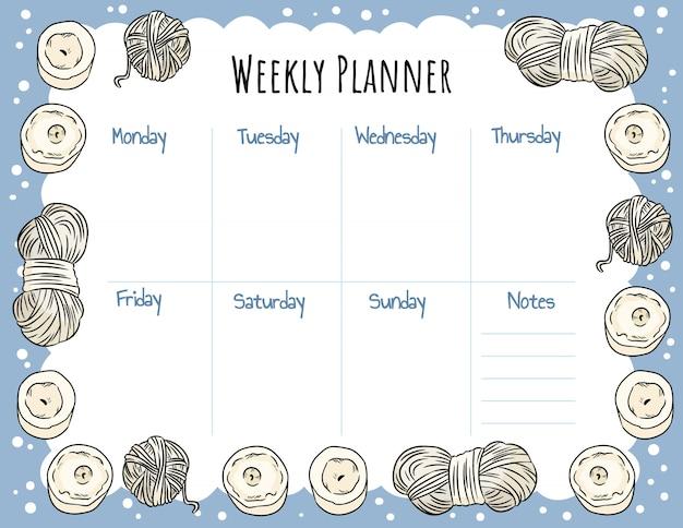 Przytulny tygodniowy planer boho i lista rzeczy do zrobienia ze świecami i ozdobą z przędzy.
