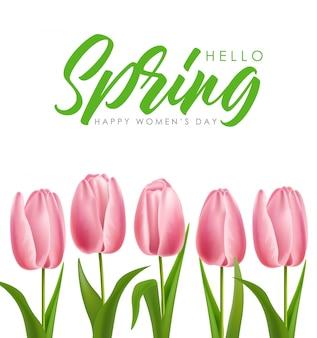 Przywitaj wiosnę ilustracji