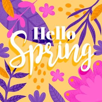 Przywitaj wiosnę koncepcja napis