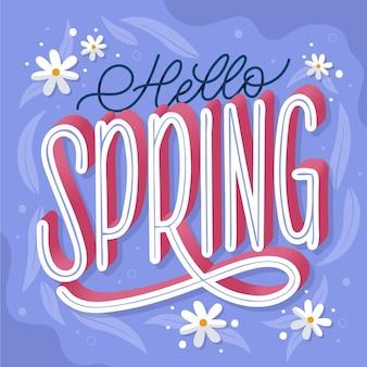 Przywitaj wiosnę ręcznie rysowane