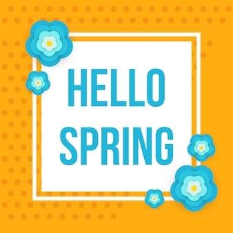 Przywitaj wiosnę retro styl banner