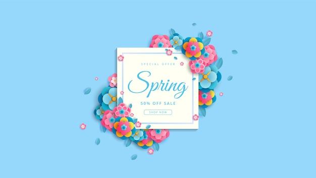 Przywitaj wiosnę z kwiatami i liśćmi