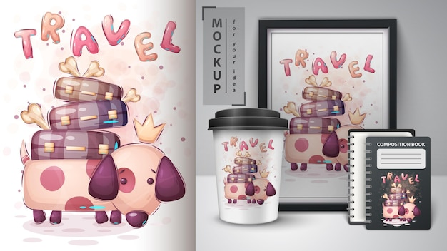 Psie podróże - plakat i merchandising