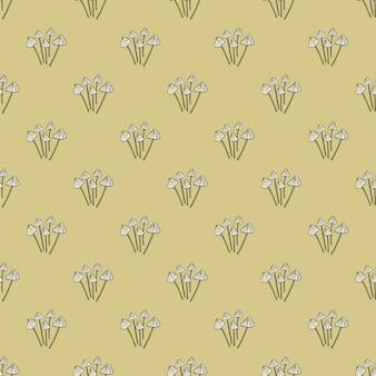 Psilocybe semilanceata grzyb wyprofilowane ornament wzór. projekt wektor dla tekstyliów, tkanin, prezentów, tapet.