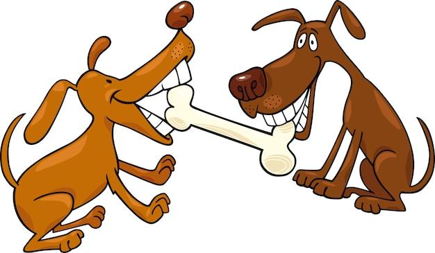 Psy bawiące się kością