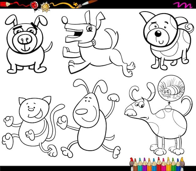 Psy kolorowanki kreskówka