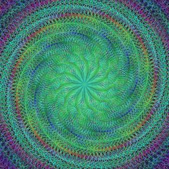 Psychedelic zielonym tle z spirali