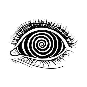 Psychodeliczna spirala oko