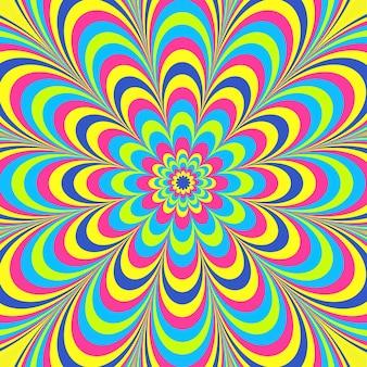 Psychodeliczny groovy rysunek tła