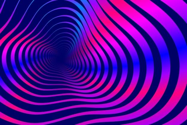 Psychodeliczny złudzenie optyczne tło
