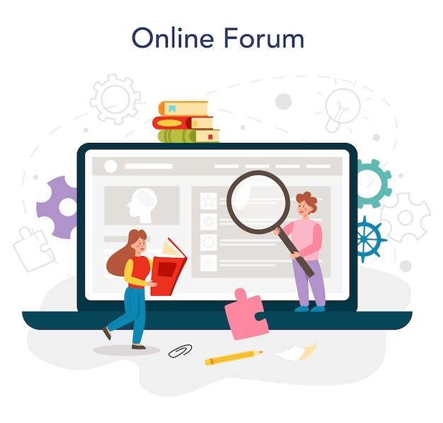 Psychologia usługa online lub platforma mentalna dla ludzi