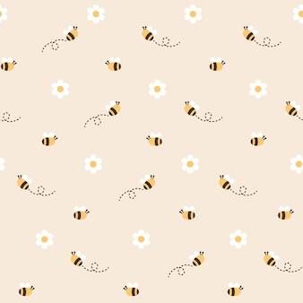Pszczoła bezszwowe tło wzór
