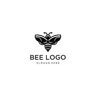 Pszczoła logo szablon ikona ilustracja