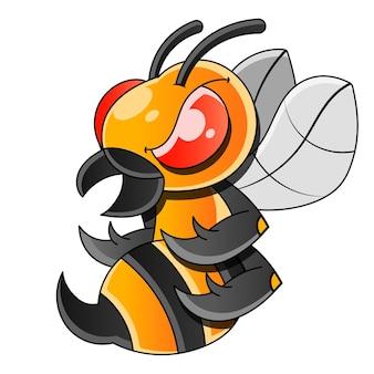 Pszczoła miodna lub osa płaski wektor ikona dla aplikacji i stron internetowych
