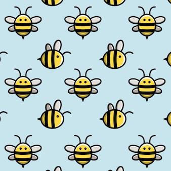 Pszczoła miodna w tle
