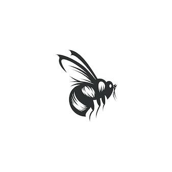 Pszczoła rysunek ilustracja na białym tle