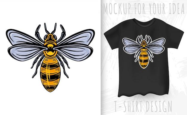 Pszczoła. styl vintage izolowany