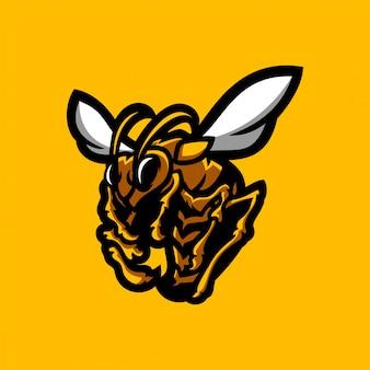 Pszczoła, szerszeń, osa esport gaming maskotka logo szablon