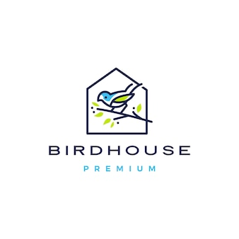 Ptak dom ikona logo ilustracja