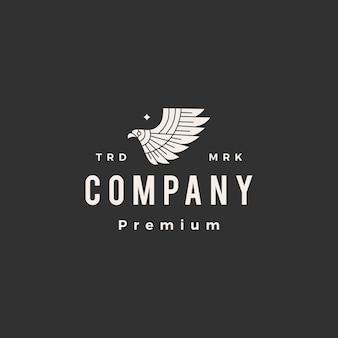 Ptak drapieżny hipster vintage logo
