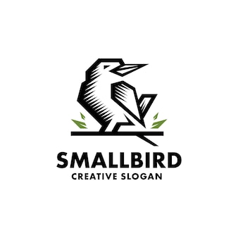 Ptak minimalistyczne logo