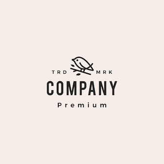 Ptak monoline hipster vintage logo