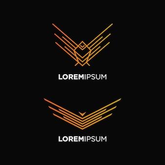 Ptak mucha logo abstrakcyjny projekt koncepcji