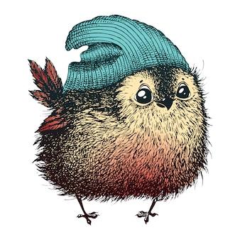 Ptak w kapeluszu