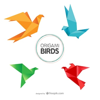 Ptaki origami spakować