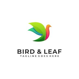 Ptasiego liścia projekta kolorowy ilustracyjny wektorowy projekta szablon
